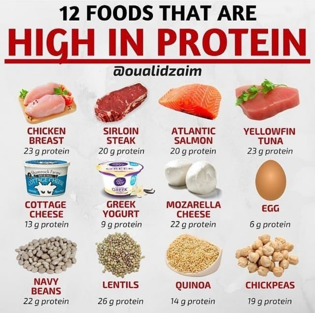 12 high protein foods